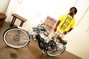 Mikey w/ bike.  -- Photo by Kendaru Photography