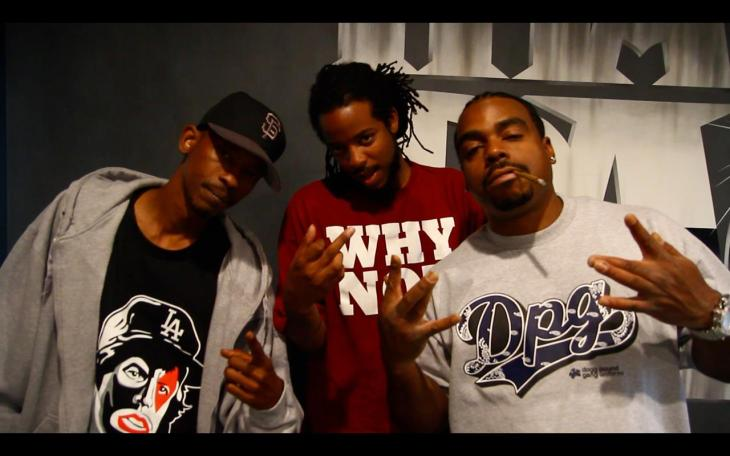 Jae Synth with Daz and Kurupt of the Dogg Pound