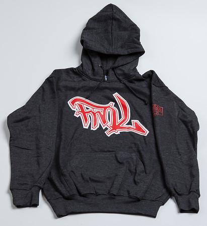 FML Hoodie Dark Gray Red and White