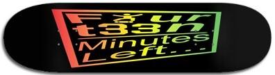 FML McSk8s Rasta logo deck