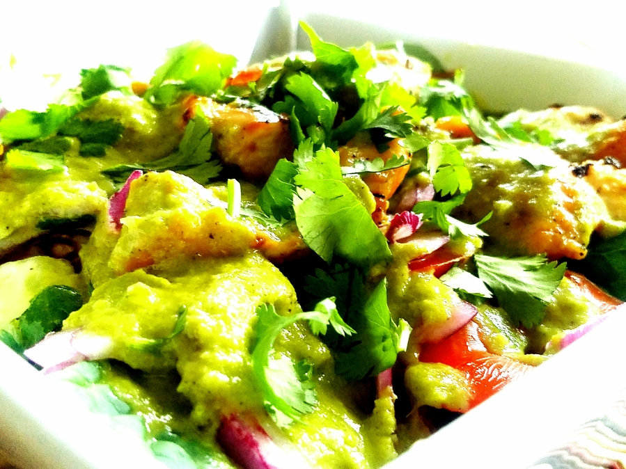 Devastatingly Spicy Pineapple Cilantro Salad Dressing