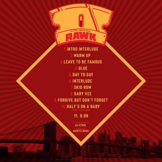 Back Cover of Album RAWK