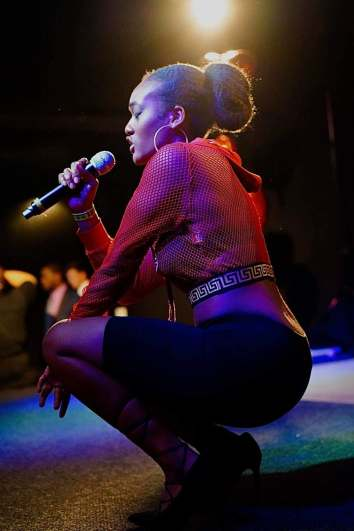Asia Jones is seen here performing. Images By Jerry Hoo